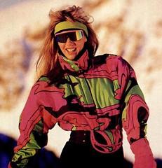 62462 (onesieworld) Tags: girls ski sexy fashion lady fetish one shiny neon suit 80s piece nylon catsuit silky snowsuit onesie kink