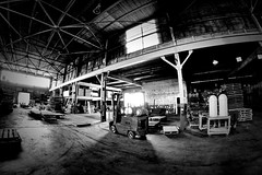 Explored (10.10.14) (Jamie Smed) Tags: app iphoneedit handyphoto window vignette fisheye 2014 ceiling warehouse hdr glare brick metal glow machine buildings jamiesmed pallets snapseed steel light explored explore lens prime geotagged geotag fixed manual focus software facebook wide angle rokinon september blackwhite bw blackandwhite canon eos dslr 500d t1i rebel photography industrial