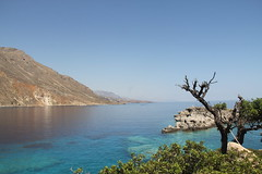 Loutro (Lise-Marie Photography) Tags: ocean blue sea summer sky beautiful kreta july clear greece crete vegetation loutro kriti