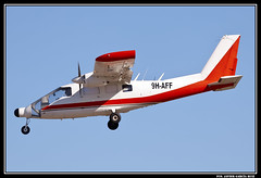 Partenavia P-68 (9H-AFF) (Fco Javier Garcia Ruiz) Tags: espaa san murcia garcia javier aeropuerto ruiz fco spotter planespotter aerospotter