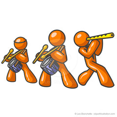 Orange Man Musical Group (clipartillustration) Tags: people music orange playing man color cute men history illustration shiny singing bright drum vibrant group cartoon fame band illustrations flute melody glossy harmony drumstick clipart characters vector