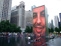"Crown Fountain Smiling at Kids below • <a style=""font-size:0.8em;"" href=""http://www.flickr.com/photos/34843984@N07/15353850968/"" target=""_blank"">View on Flickr</a>"
