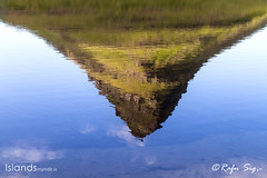 Reflection of mountain in a lake