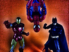 Men of comics. (ry_bread84) Tags: spiderman ironman batman marvellegends dccomics marvel darkknight iwo toycollection acba toyark shfiguarts toyrevolution mafex toyplanet articulatedcomicbookart toycrewbuddies toycrewbuddiesjp toycrewbuddiesusa toysquad toygraphyid bestgfx toyartistry omnitoys toypops2 appicks uncannyshots toypoppin advteam