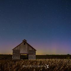 Lucky Timing in Iowa (TheAstroShake) Tags: sky field night barn stars aurora northernlights borealis