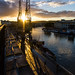 Bristol Docks at sunset