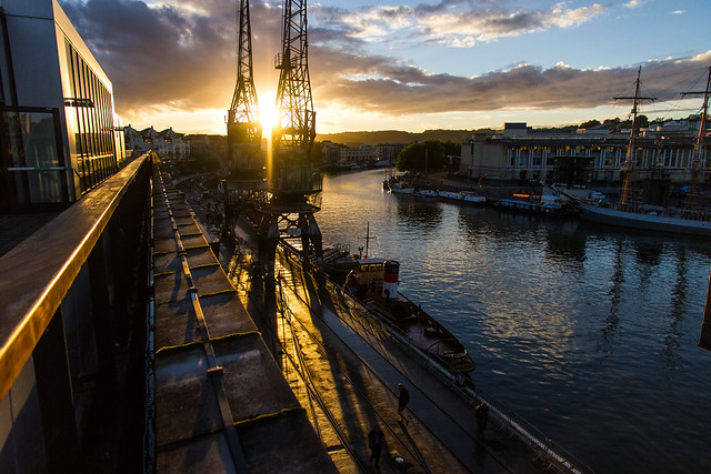 Bristol Docks at sunset