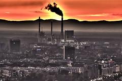 Karlsruhe im Sonnenuntergang (Heiko S.) Tags: karlsruhe durlach turmberg