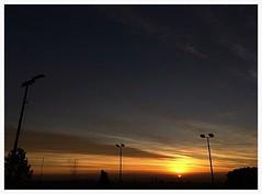 Today's Sunrise (albertpuiggrosvega) Tags: barcelona sky sun sol del clouds sunrise colours bcn ciudad catalonia colores salida 8am ornage condal