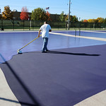 Coating the courts
