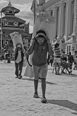 Nepalese people (edoardo79) Tags: street nepal portrait people blackandwhite work square persona strada piazza ritratto biancoenero
