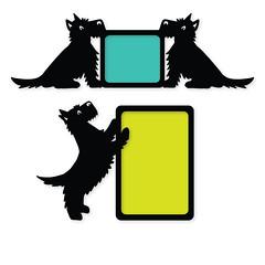 terrier-frames (emily dyer) Tags: silhouette svg papercut diecut