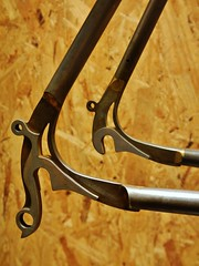Capricorn Dropouts (guidedbybicycle) Tags: water bicycle steel jet frame custom stainless dropouts cromoly