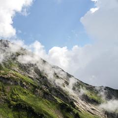 (linasamoukova) Tags: sky mountains nature grass clouds russia sochi 2014