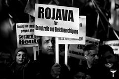 . (Thorsten Strasas) Tags: berlin de demo deutschland is war iraq rally protest demonstration kudamm syria isis kundgebung attacks kurdistan gedaechtniskirche irak syrien kurds isil yazidi kaiserwilhelmgedaechtniskirche ypg kurden kurfuerstendamm pkk schwarzweis sengal angriffe yeziden jesiden yekineyenparastinagel ainalarab islamischerstaat kobane volksverteidigungseinheiten sindschargebirge