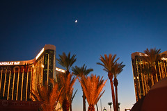 Moon Over Mandalay (Tom Hughes Photo) Tags: nightphotography las vegas moon night canon photography bay nightshot nevada casino mandalay canon2485mm canon10deos rochestertee