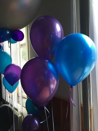 Tafeldecoratie 3ballonnen Duurzame Scholen Leerhotel het Klooster Amersfoort
