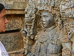FACE TO FACE WITH THE LIVING STONES (GOPAN G. NAIR [ GOPS Photography ]) Tags: india rock architecture temple photography ancient carving karnataka halebid halebidu hoysala gops gopan hoysaleshwara gopsorg gopangnair gopsphotography