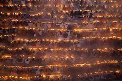 Bangali Hindus observe Loknath Brammochari's ''Rakher Upobas'' Prayer (auniket prantor) Tags: lighting light portrait people food color colour male lamp fruits festival fog female children asian religious costume clothing community worship asia sitting child place adult god indian south faith prayer religion pray joy foggy ceremony fast lifestyle belief landmark celebration holy flame human both ritual lamps spirituality festivity cloth cloths spiritual devotee devotees hindu adults hinduism celebrate tample bengal baba cultural celebrating kartik crowded fasting crowed bangladeshi zakir sharee hossain asrom loknath brati barodi rakher frstive