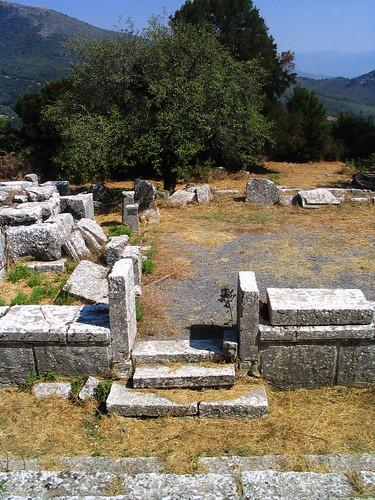 Sanctuary of Despoina at Lykosoura, Arkadia 68: temple, south door