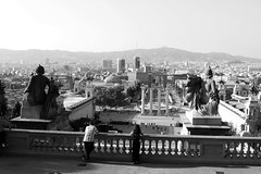 Barcelona dal MNAC! (Giuseppe Luigi Dipace) Tags: barcelona street travel bw tourism canon landscape eos blackwhite spain bianconero touring catalua bwphoto bwpicture bwcontest giuseppeluigidipace