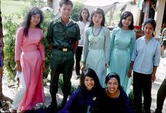 Bien Hoa Dec. 1967 - Celebration of the Feast of the Immaculate Conception of Mary (December 8) (manhhai) Tags: vietnamese waite vietnam 1967 tet bienhoa tetoffensive macv trangbom advisoryteam98 ductu anxuan vuonngo