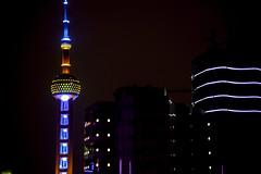 The Oriental Pearl Tower, Shanghai - China (Sigmundur Andresson (Thanks for 450.000+ views)) Tags: china architecture night asia shanghai orientalpearltower orientalpearl  img6536 canoneos5dmarkii sigma70300mm1456apodg  sigmundurandresson