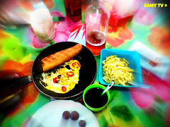 King Breakfast at  Home (Samy TV(youtube.com/user/LiLsam972)+225.000views) Tags: life camera flowers white flower color green art nature fleur colors beautiful field digital lens photography photo leaf amazing nice eyes aperture gallery purple shot martinique great large samsung photograph enjoy depth 972 madinina of picmonkey samytv