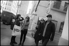 Grant St. (icki) Tags: sanfrancisco california ca street blackandwhite sunglasses downtown unionsquare grantst 16january2014