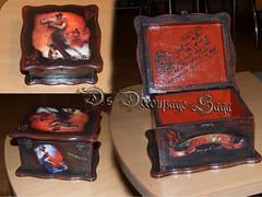 TANGO decoupage box  by Decoupage Saga (DecoupageSaga) Tags: vintage box handmade boxes homedecor artcrafts decoupage vintageboxes vintagebox decoupagebox decoupageboxes decoupagesaga