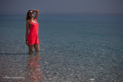 reddish dress session (filipe mota rebelo | 400.000 views! thank you) Tags: vacation portrait people woman beach water girl canon retrato session albania 2014 balcans sessao fmr dhermi drymades 5dmarkii filipemotarebelo inessardo