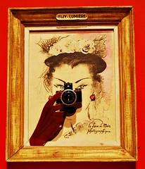 3 - Chalon-sur-Sane Muse Nicphore Nipce - Photographie Publicit pour e face  main Eljy Lumire, annes 1950 (melina1965) Tags: camera november museum nikon novembre muse cameras museums bourgogne 2014 publicits advertissement burgondy chalonsursane muses d80 saneetloire appareilphotographique advertissements pubicit appareilsphotographiques