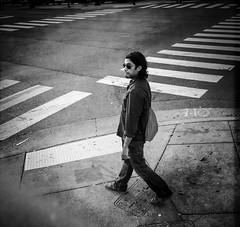 Miguel Swag (Tom Frundle) Tags: street man nashville streetphotography style stranger squareformat intersection crosswalk today swag bnw nashvilletn nashvegas musiccity johnslens hipstamatic blackeyssupergrainfilm