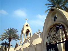 Monastery and Church of St. George - Nazlat El-Samman - Plateau pyramids - Giza - By Amgad Ellia 01 (Amgad Ellia) Tags: church st by george plateau monastery pyramids giza amgad ellia nazlat elsamman
