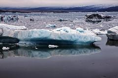Jkulsrln (Sergey Alimov) Tags: white mountain lake mountains ice fog iceland lagoon glacier iceberg sland jkulsrln
