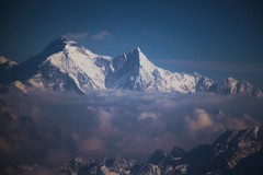 Everest Peak (Heaven`s Gate (John)) Tags: blue nepal sky mist snow mountains sunshine clouds atmosphere peak mount everest sherpa tenzing himalyas edmundhillary 50faves 10faves johndalkin heavensgatejohn 22faves