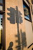 City lights (Julien.Belli) Tags: semaphores city light julien belli julienbelli ricoh ricohgrd3 ricohgrdigital3 ricohgrdiii ricohgrd ricohgrdigitaliii photo suisse lausanne romandie vaud switzerland schweiz svizzera shadow people contrast wall streetphotography street photography photographie color orange sunset