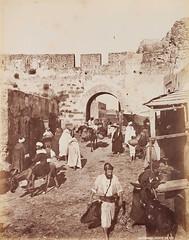 Tangier's door, Morocco, 1889 (Benbouzid) Tags: باب طنجة المغرب الشمال يهود المملكة المغربية royaume cherifien alaouite tanger tangier maroc morocco
