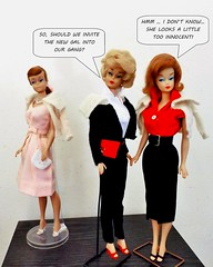 THE PINK LADIES (ModBarbieLover) Tags: vintage barbie doll 1963 pak fashions swirl bubblecut fashion queen