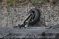 BSB - Q (1) Wreckage of Jenny Tinmouth's Honda after crash (Collierhousehold_Motorsport) Tags: bsb britishsuperbikes superbikes mceinsurance pirelli msvr msv brandshatch brandshatchgp kawasaki honda bmw ducati yamaha suzuki