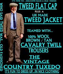 the Country Tuxedo wear tweed 10 (Ban Long Line Ocean Fishing) Tags: countrytuxedo tweed tweedjacketphotos tweeds tweedjacket tie twill texture tweedcoat trousers classic clothing canon coat country christchurch cavalrytwill cavalry nz newzealand napier nelson wellington blazer bloke guy cap clothes tweedcap flatcap scottish scotland uk british britain english england mens man mensfashion menswear hastings hamilton harris text houndstoothtweedjacket houndstooth harristweeds candid countrytweeds cavalrytwilltrousers coatjacketjacketcoats color retro oldschool old older pants black 1980s 1970s shirtandtie