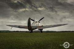 """Stormy Skies"" (SJAviation.net) Tags: raf aircraft nikon aviation spitfire merlin airshow p9374 duxford"