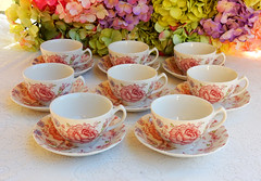 Johnson Brothers Cups & Saucers ~ Rose Chintz ~ Pink (Donna's Collectables) Tags: johnson brothers ~ rose chintz pink porcelain china thanksgiving christmas