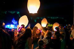 Lanching sky lanterns at UtopiaFest (birzer) Tags: utopiafest floating luminaries sky lanterns flying utopiafest8