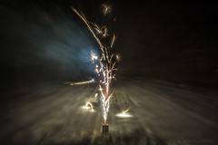 Fireworks in the snow (gabe.mirasol) Tags: nikon d7100 1755mm 1755 28 f28 dx zoom fireworks experimental color contrast clarity snow