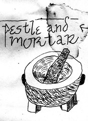 pestle and mortar (or mortar and pestle) art (kalihikahuna74 (Ryukyu Khan or Okinawa808)) Tags: pestle mortar artwork art black white monochrome drawing sketch cartoon blackandwhite illustration world international culture cooking technique grind grinding mill mixing mix medicine food prep preparation husk husking dehull dehulling india indian mesoamerica prehispanic prespanish pakistan asia japan japanese malay malaysian netherlands drug drugs developing country countries