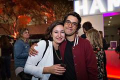 Allie Avital and Carlos Lopez Estrada at Flux Screening at the Hammer October 12, 2016 (helloflux) Tags: billywildertheater film flux hammermuseum losangeles short musicvideo screeningseries westwood california carloslopezestrada allieavital