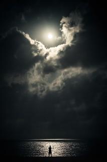 Pleine lune sur les plages de Marcambrils