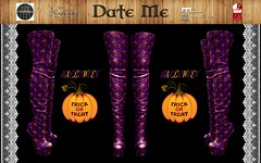 Date Me High Boots Pumkin Purple Halloween adv (maus.megadon) Tags: slink maitreya halloweeen venus isis freya belleza fitmesh boots overknees second life date me fashion design young style mode trend inn purple pumkin trick or treat high quality 3d sexy