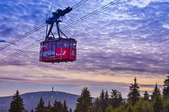 Fichtelbergbahn mit Blick auf Keilberg